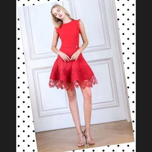 Bronx and Banco Antonia Red Dress